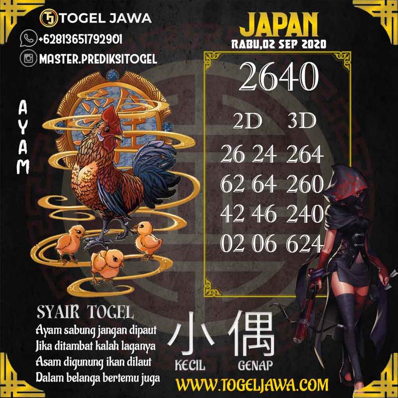 Prediksi Japan Tanggal 2020-09-02