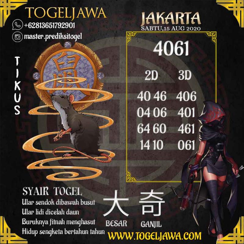 Prediksi Jakarta Tanggal 2020-08-15