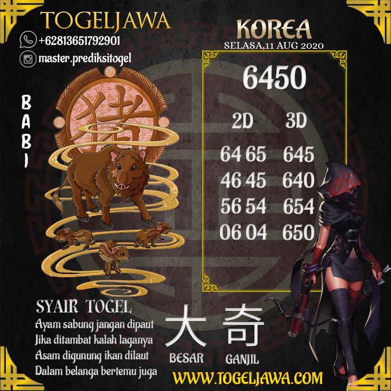 Prediksi Korea Tanggal 2020-08-11