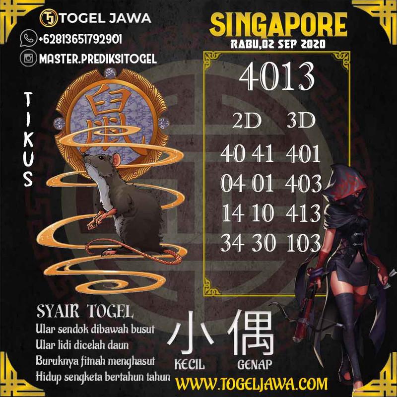 Prediksi Singapore Tanggal 2020-09-02