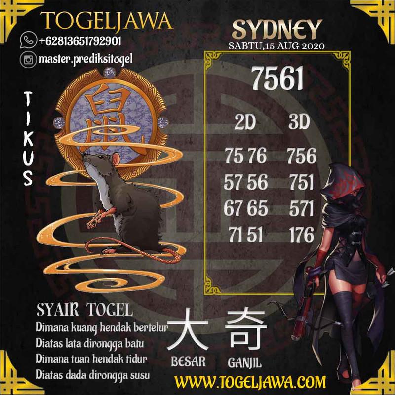 Prediksi Sydney Tanggal 2020-08-15
