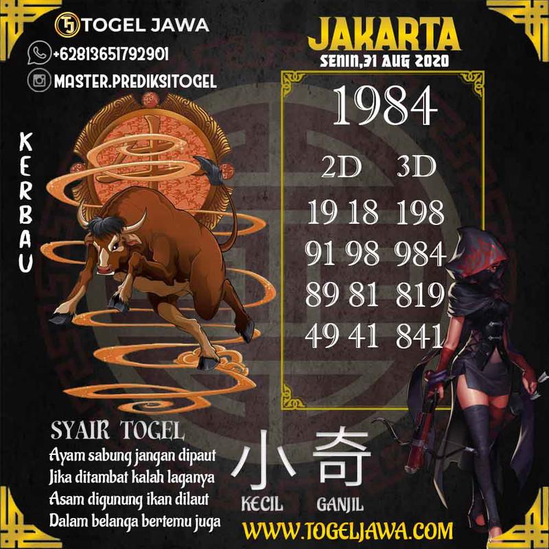 Prediksi Jakarta Tanggal 2020-08-31