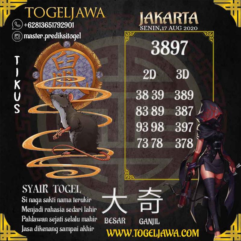 Prediksi Jakarta Tanggal 2020-08-17