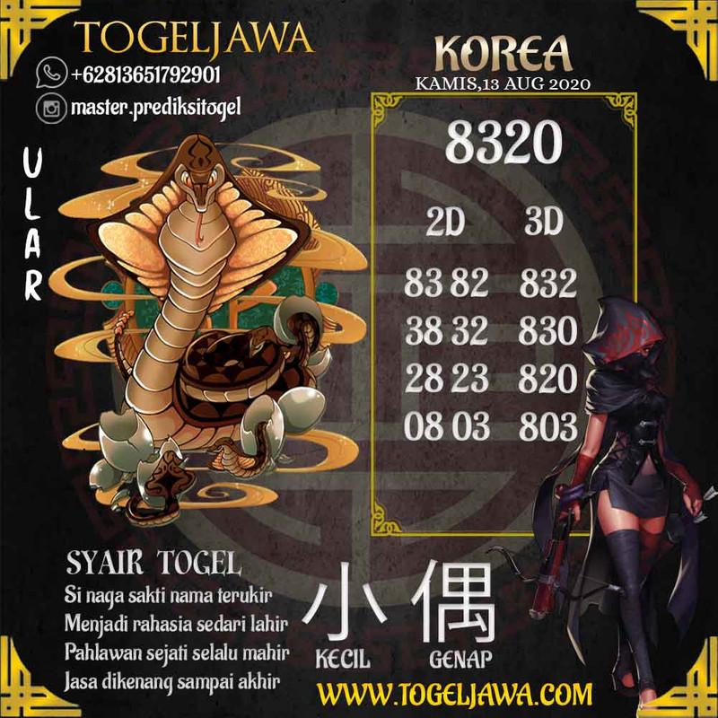 Prediksi Korea Tanggal 2020-08-13