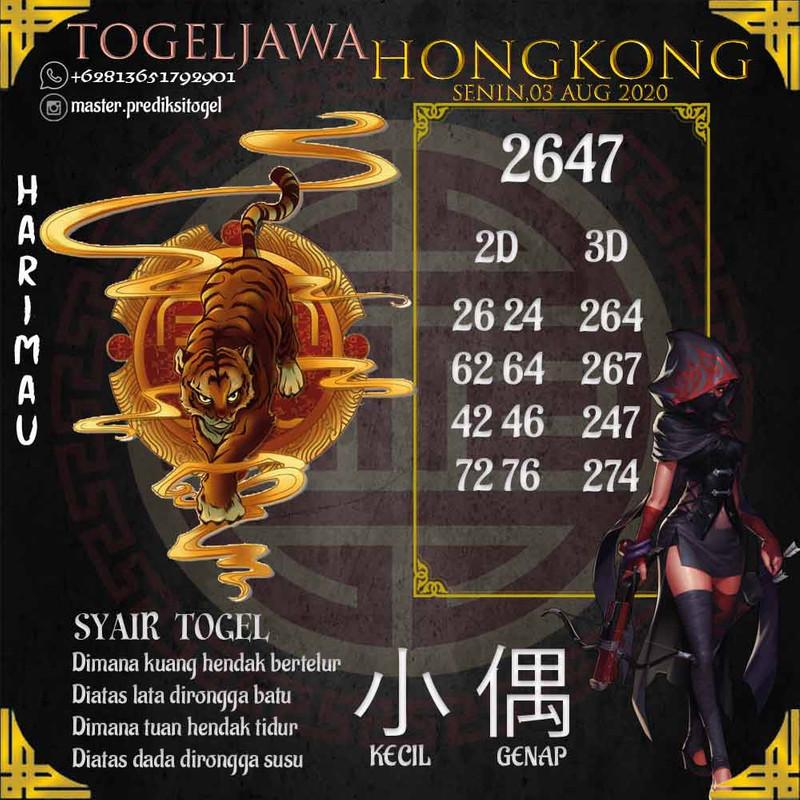 Prediksi Hongkong Tanggal 2020-08-03
