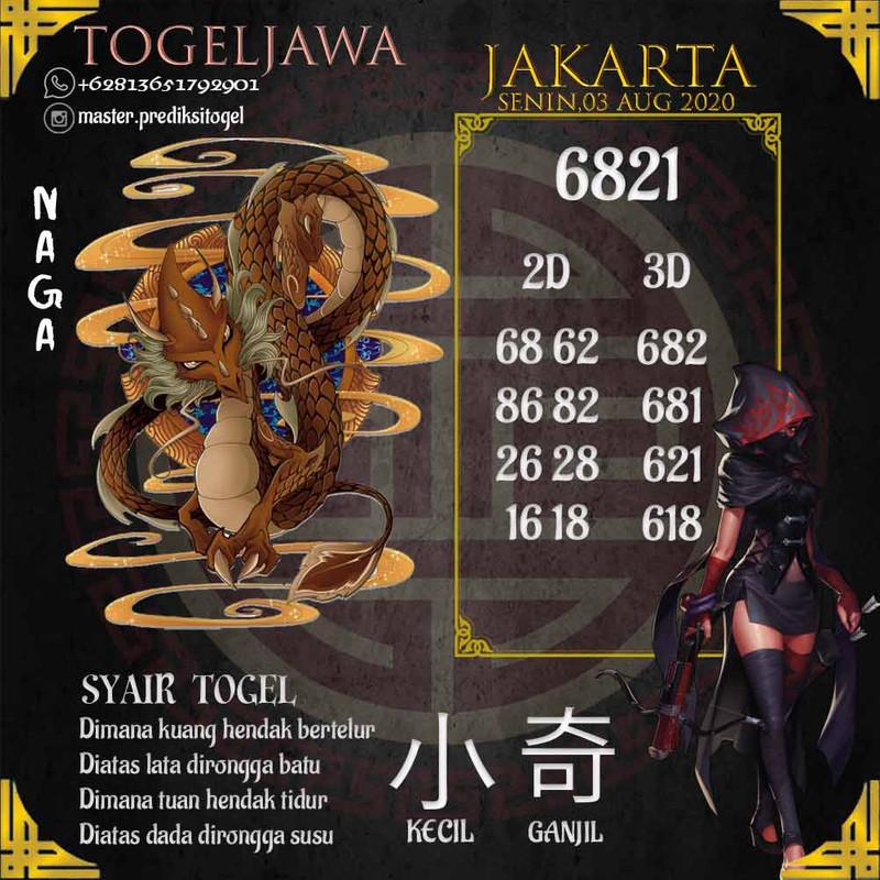 Prediksi Jakarta Tanggal 2020-08-03
