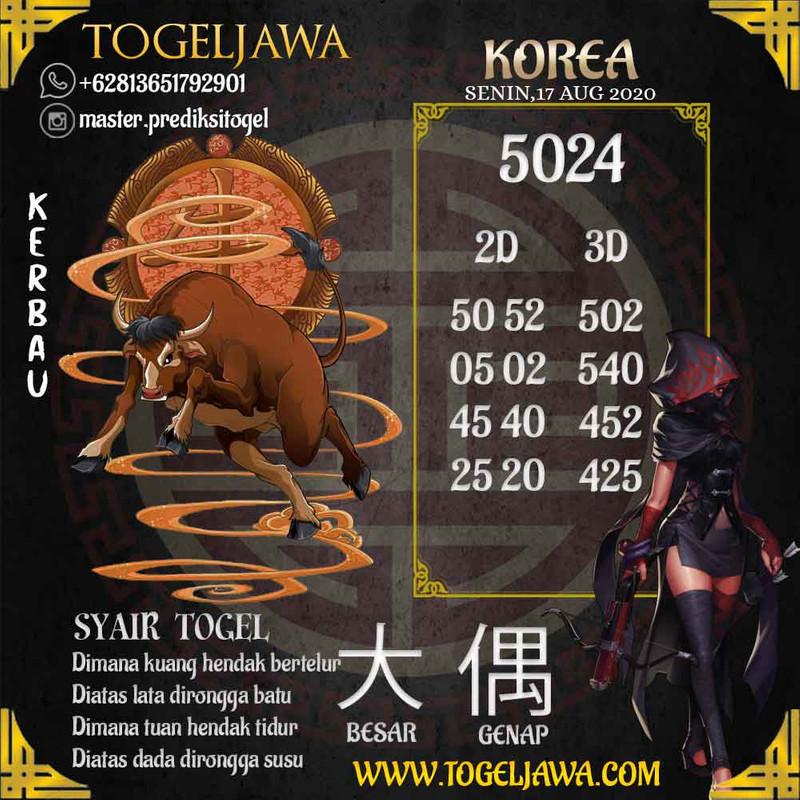 Prediksi Korea Tanggal 2020-08-17