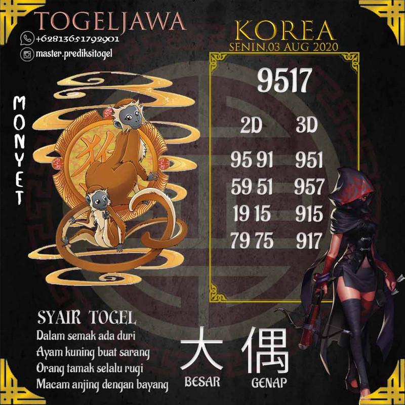 Prediksi Korea Tanggal 2020-08-03