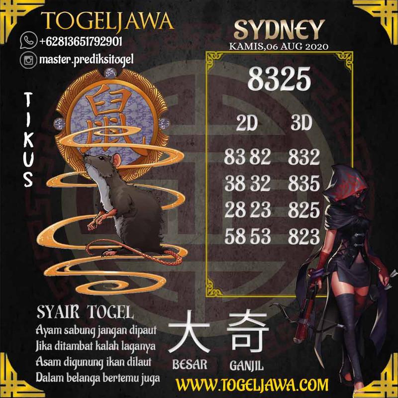 Prediksi Sydney Tanggal 2020-08-06
