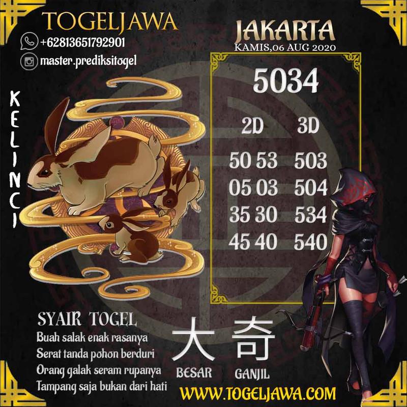 Prediksi Jakarta Tanggal 2020-08-06