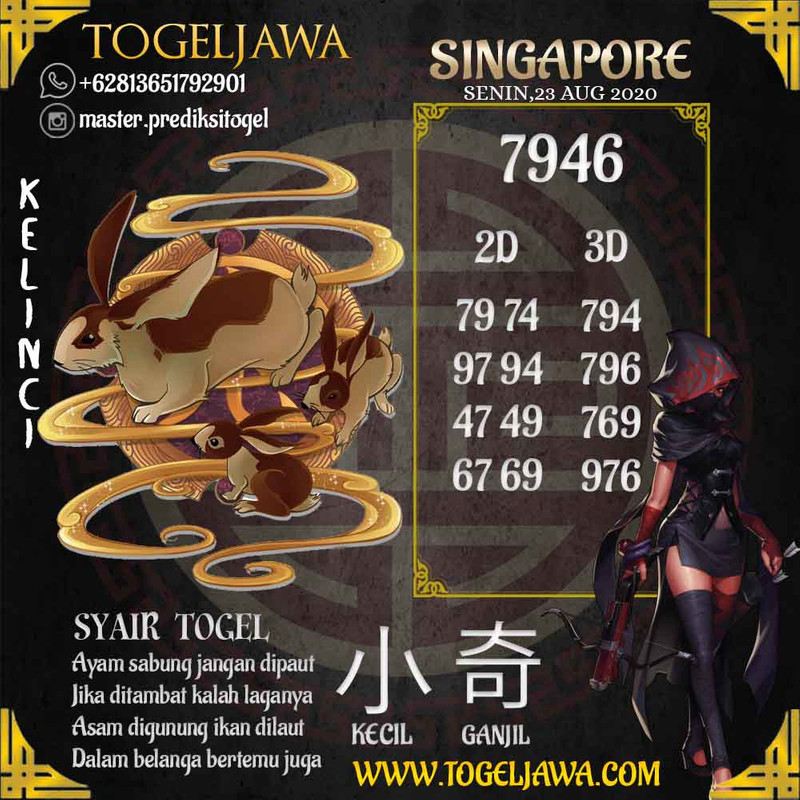 Prediksi Singapore Tanggal 2020-08-23