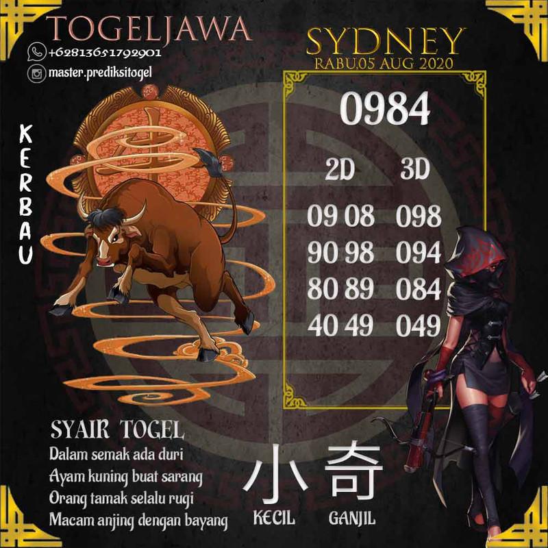 Prediksi Sydney Tanggal 2020-08-05