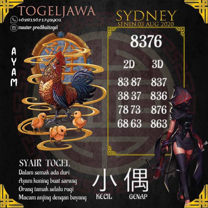 Prediksi Sydney Tanggal 2020-08-03
