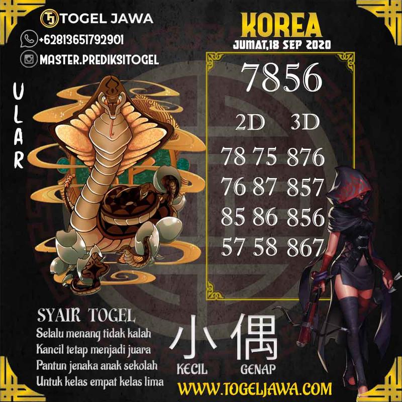 Prediksi Korea Tanggal 2020-09-18