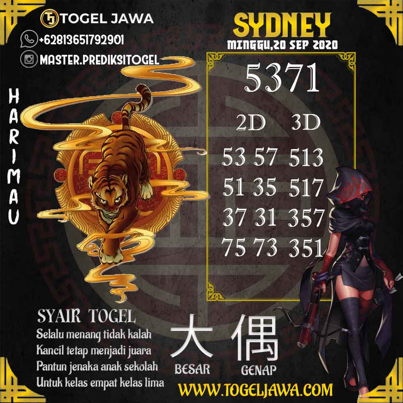 Prediksi Sydney Tanggal 2020-09-20
