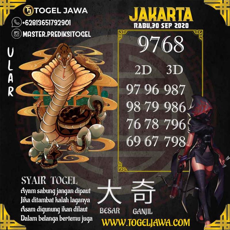 Prediksi Jakarta Tanggal 2020-09-30