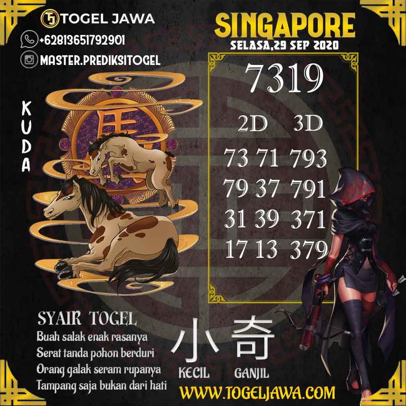 Prediksi Singapore Tanggal 2020-09-29