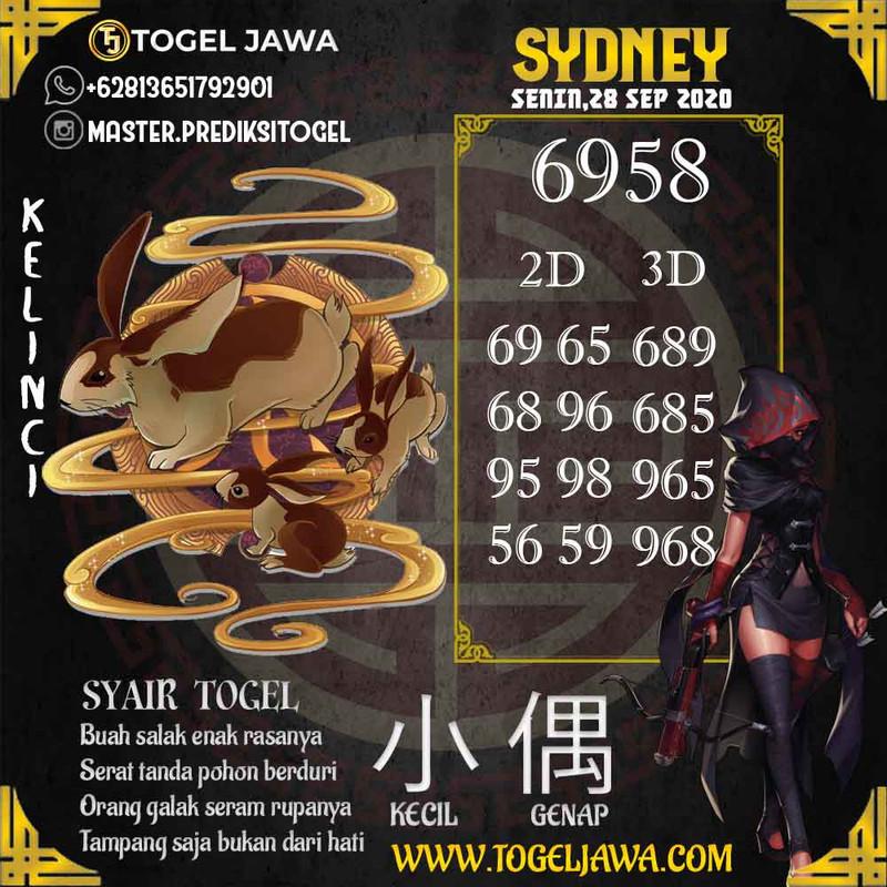 Prediksi Sydney Tanggal 2020-09-28