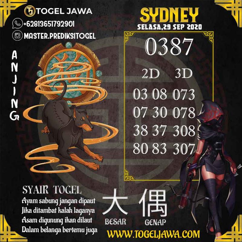 Prediksi Sydney Tanggal 2020-09-29
