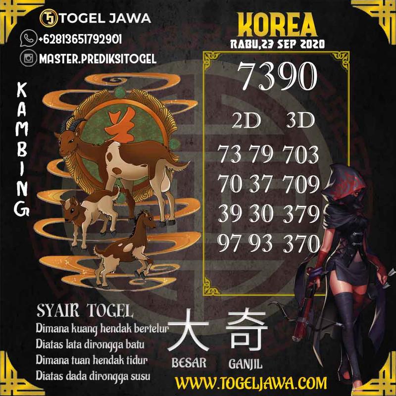 Prediksi Korea Tanggal 2020-09-23