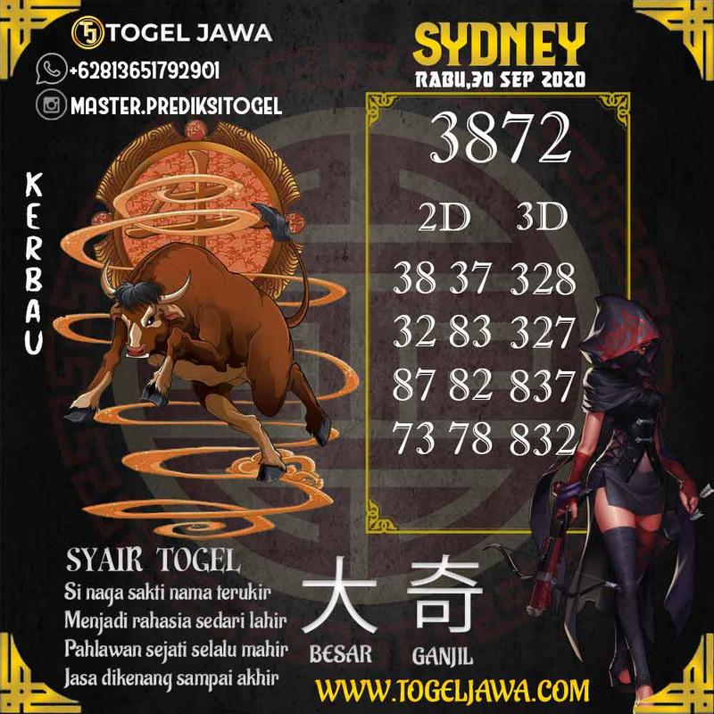 Prediksi Sydney Tanggal 2020-09-30