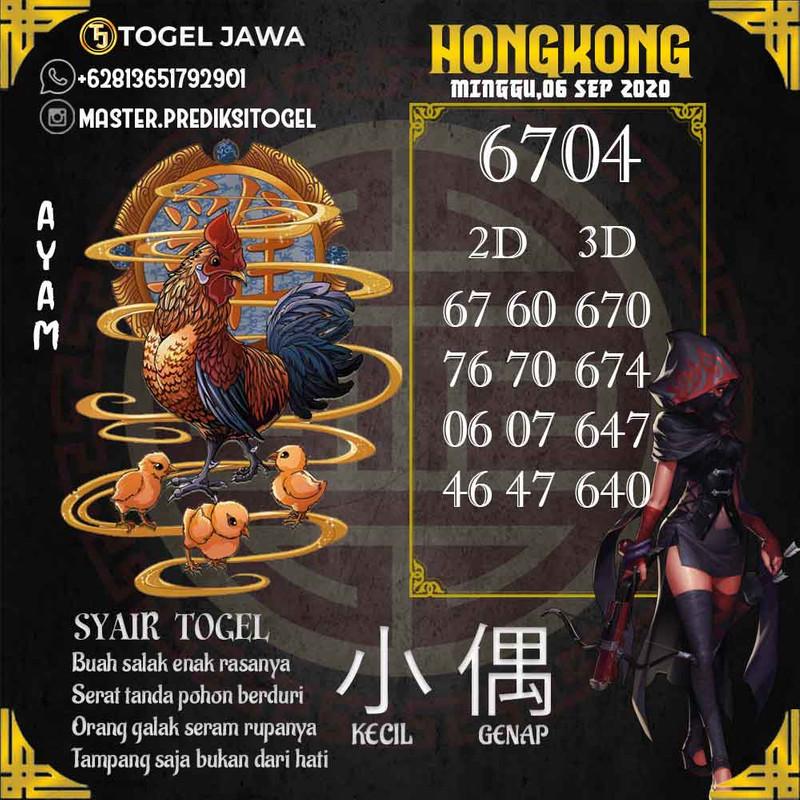 Prediksi Hongkong Tanggal 2020-09-06
