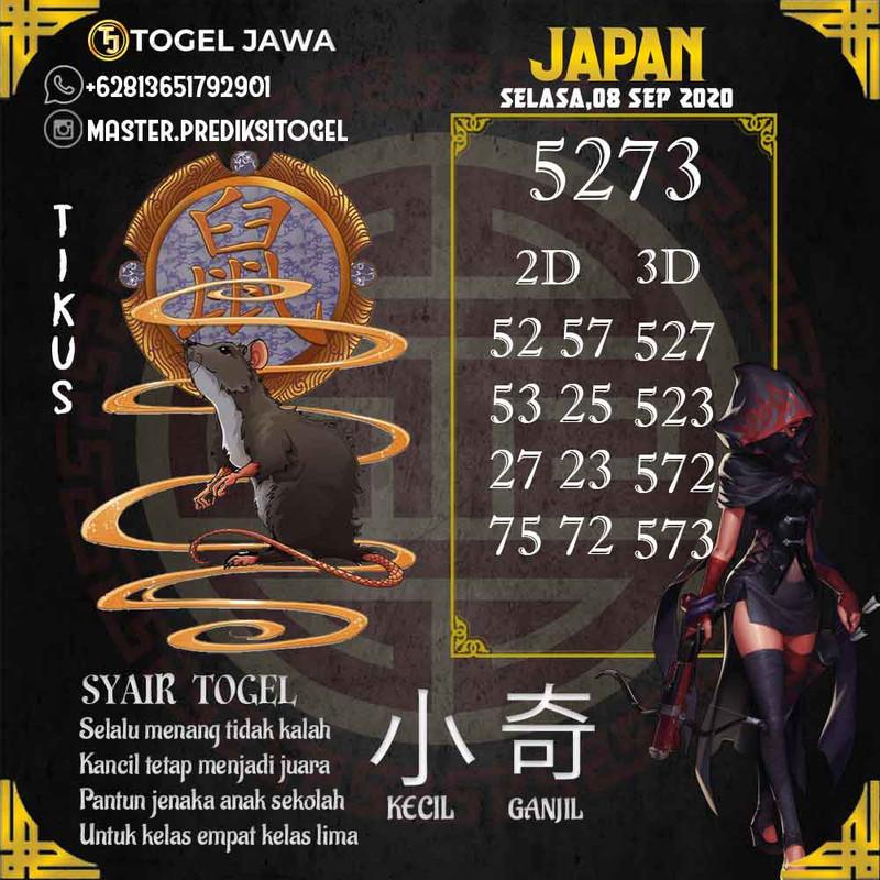 Prediksi Japan Tanggal 2020-09-08