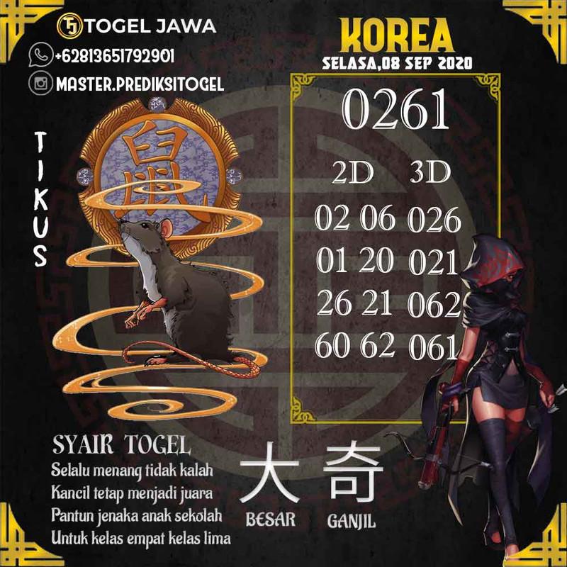 Prediksi Korea Tanggal 2020-09-08