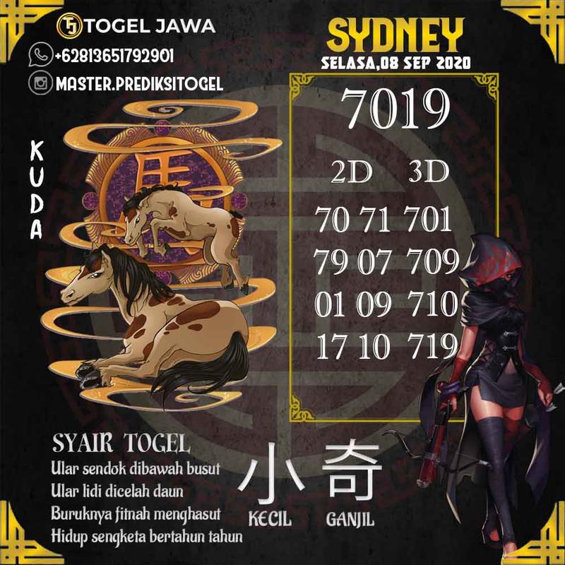 Prediksi Sydney Tanggal 2020-09-08