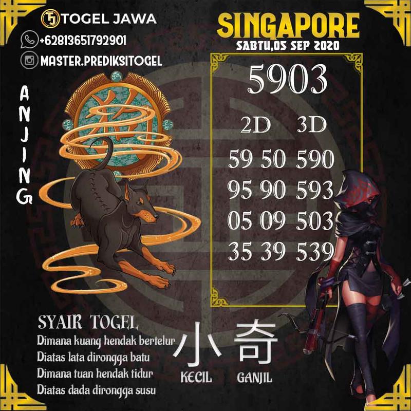 Prediksi Singapore Tanggal 2020-09-05