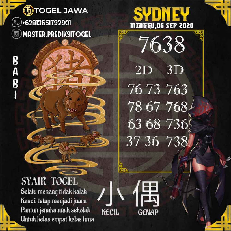 Prediksi Sydney Tanggal 2020-09-06