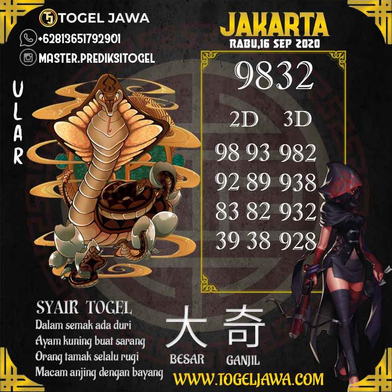 Prediksi Jakarta Tanggal 2020-09-16