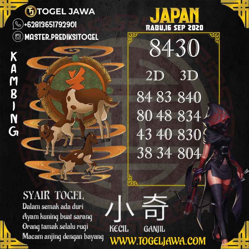 Prediksi Japan Tanggal 2020-09-16