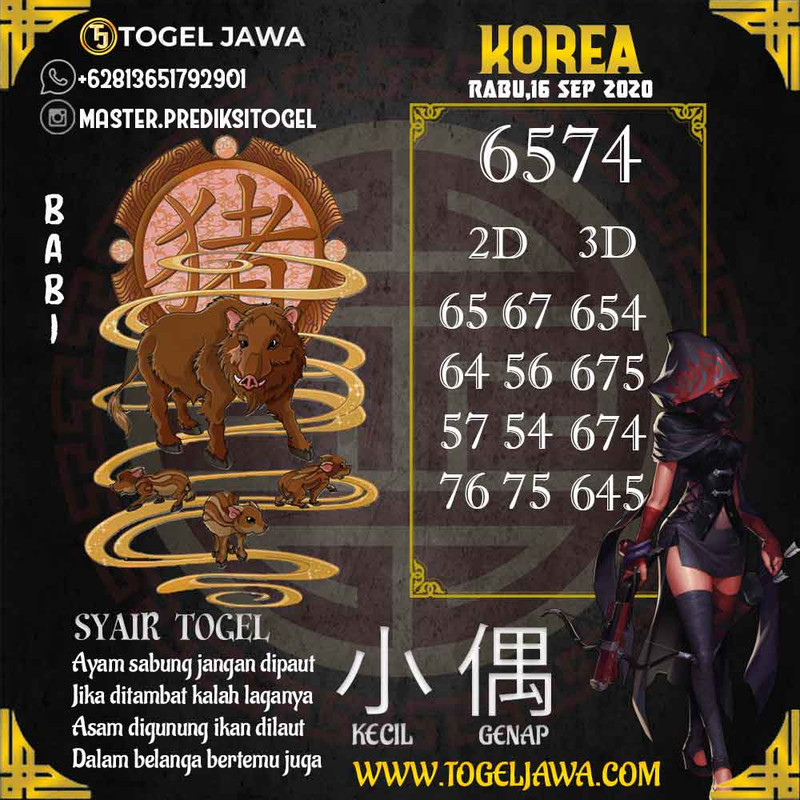 Prediksi Korea Tanggal 2020-09-16