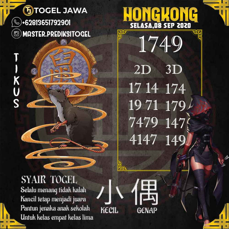 Prediksi Hongkong Tanggal 2020-09-08