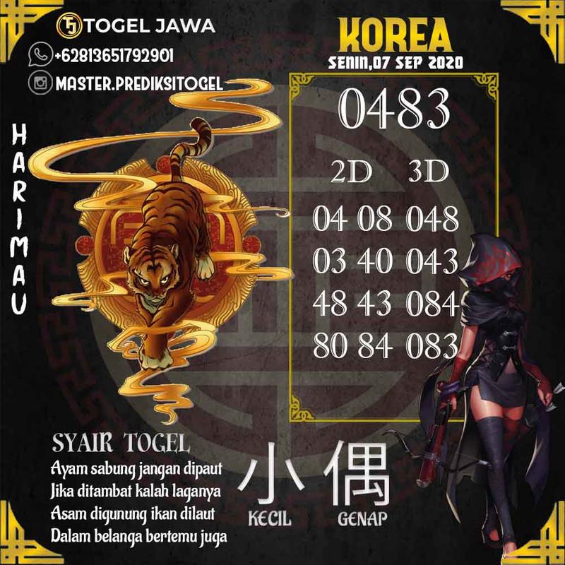 Prediksi Korea Tanggal 2020-09-07