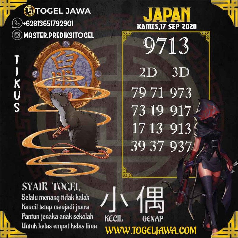 Prediksi Japan Tanggal 2020-09-17