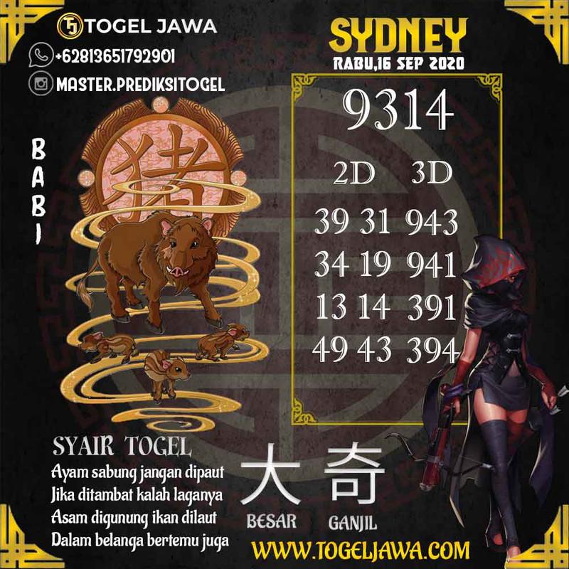Prediksi Sydney Tanggal 2020-09-16