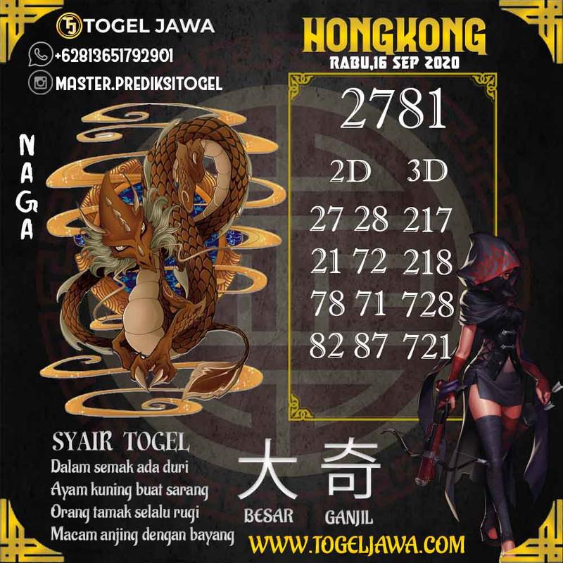 Prediksi Hongkong Tanggal 2020-09-16
