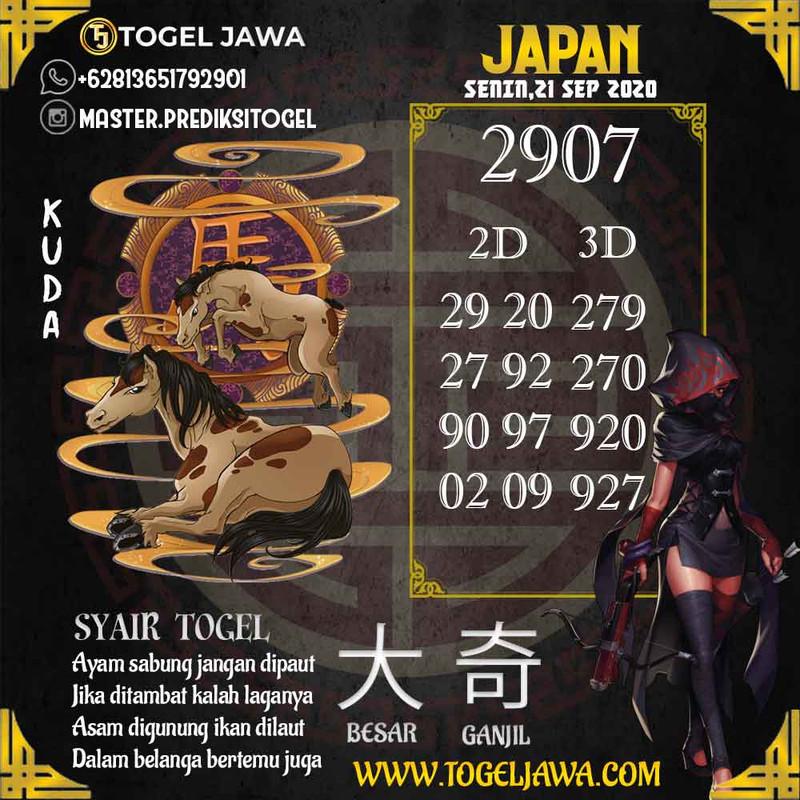 Prediksi Japan Tanggal 2020-09-21