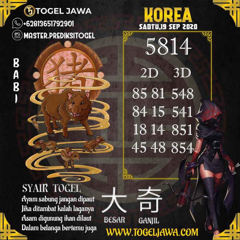 Prediksi Korea Tanggal 2020-09-19