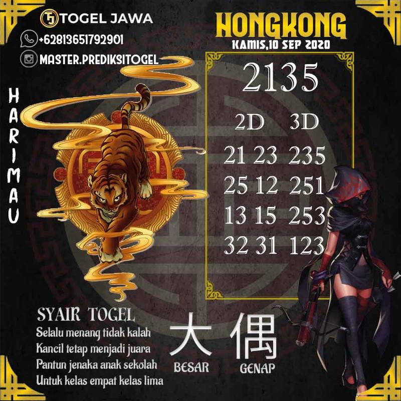 Prediksi Hongkong Tanggal 2020-09-10