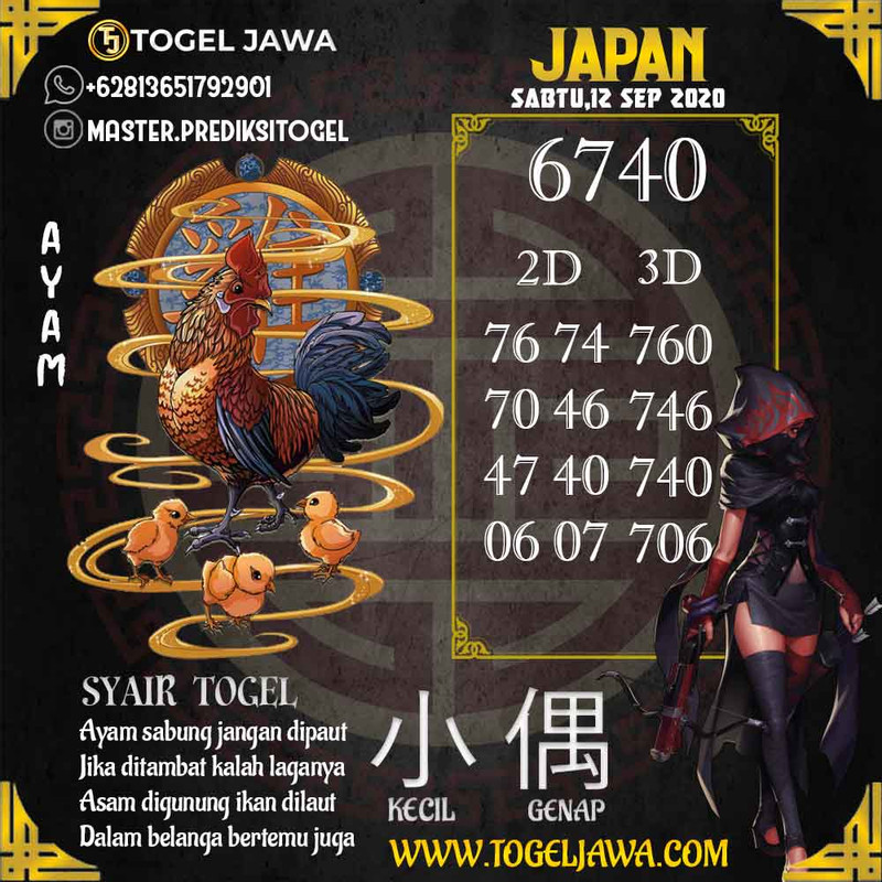 Prediksi Japan Tanggal 2020-09-12