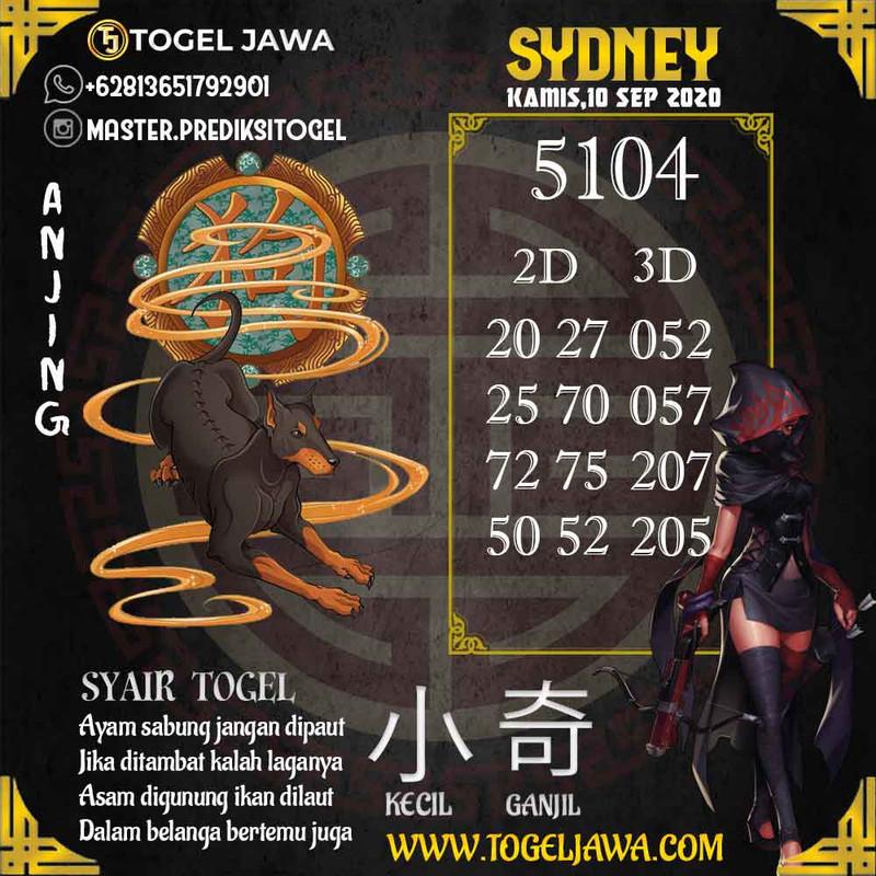 Prediksi Sydney Tanggal 2020-09-10