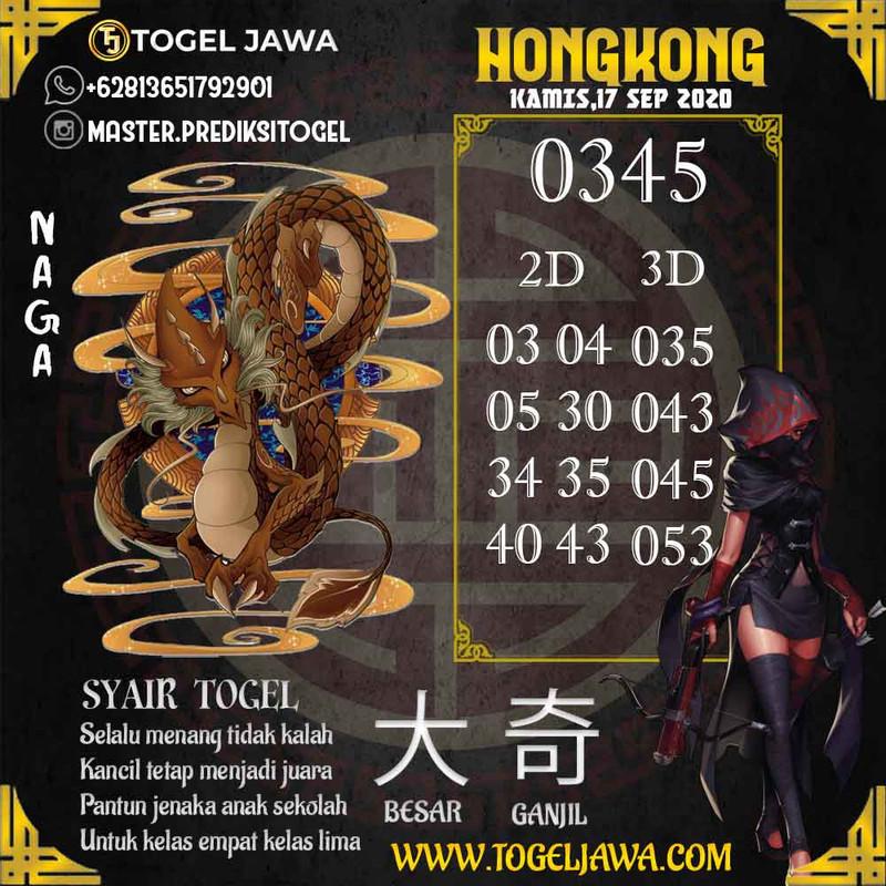 Prediksi Hongkong Tanggal 2020-09-17