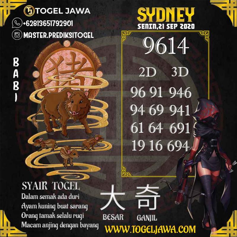Prediksi Sydney Tanggal 2020-09-21