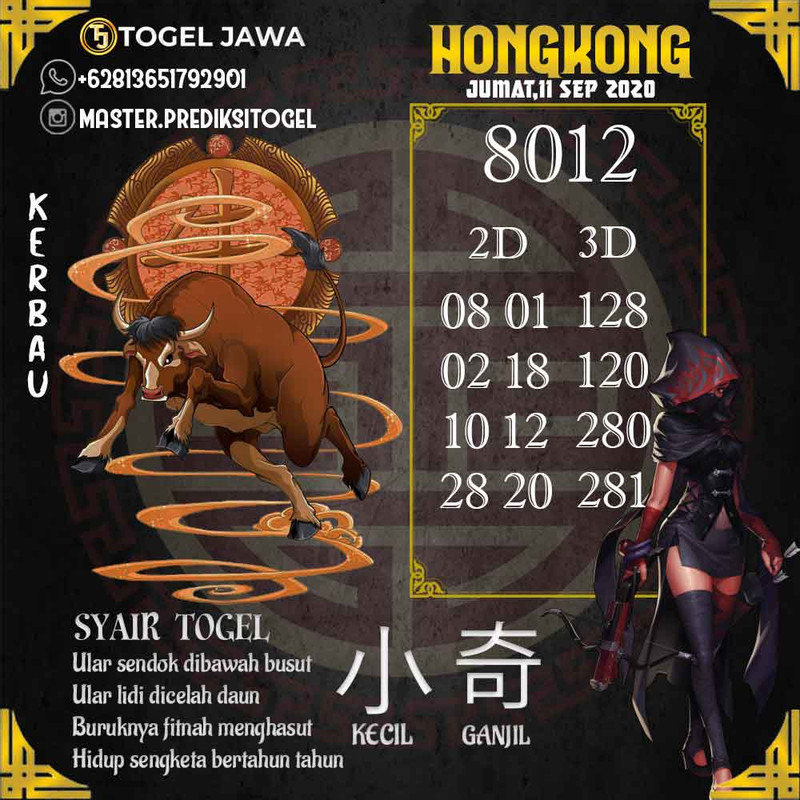 Prediksi Hongkong Tanggal 2020-09-11
