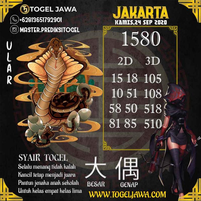 Prediksi Jakarta Tanggal 2020-09-24