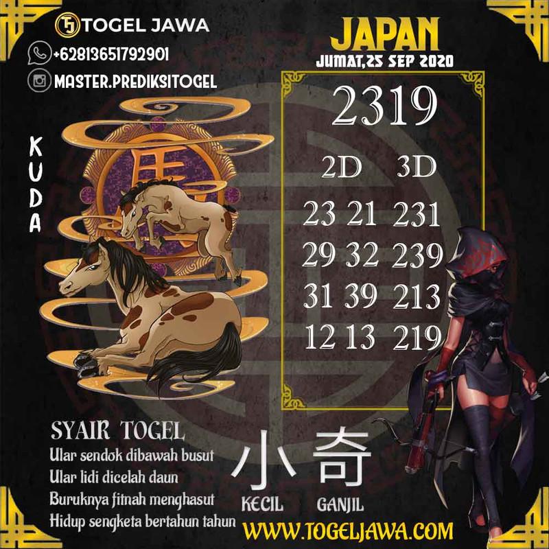 Prediksi Japan Tanggal 2020-09-25