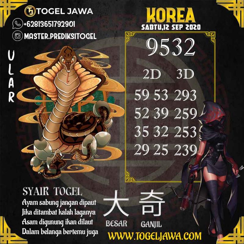 Prediksi Korea Tanggal 2020-09-12